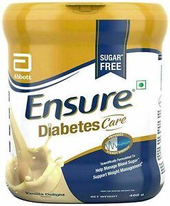 Abbott Ensure Diabetic Care   Sugar Free Vanilla delight   400g   Free Shipping