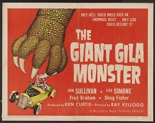 The Giant Gila Monster 1959 Horror Film DVD