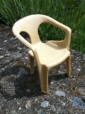 Stuhl beige 70er Ancien modèle réduit Fauteuil  réf.300 Puppenstube Puppenhaus
