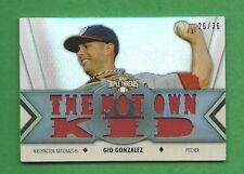 2012 TRIPLE THREADS GIO GONZALEZ GAME-USED JERSEY #d 26/36 WASHINGTON NATIONALS