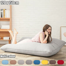 Lazy Single Bean Bag Chairs Bed for Adults Kids Couch Sofa Cover Indoor Lounge