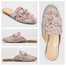 672992e61f0 Womens Velour Slide Loafer Mule Shoes Merona Kona Horsebit Backless Flats  Pink 8
