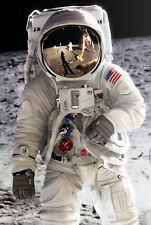 Framed Print - American Astronaut on the Moon (Picture Poster Space Art Mars)