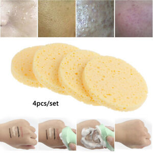 4Pcs/set Useful Soft Puff Face Makeup Remover Cleansing Washing Sponge Pad &KN