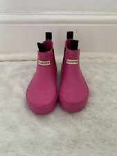 hunter Girls chelsea boots / Wellies child's size 9 Lipstick Pink