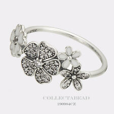 Authentic Pandora Sterling Silver Shimmering Bouquet Ring Size 50 (5) 190984CZ