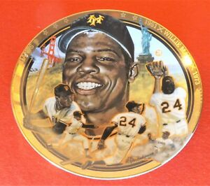 """WILLIE MAYS 1992 Hamilton Collection 6.5"""" NIB #d Plate #1467A - Giants"""