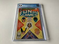 FUN AND GAMES MAGAZINE 11 CGC 9.8 WHITE PAGES VALKYRIE WOLVERINE MARVEL COMICS