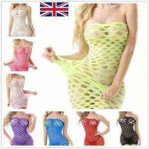 Sexy Mesh Big Fishnet Dress Body Stocking Bodysuit Nightwear Lingerie Sleepwear