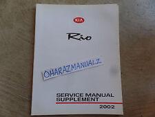 2002 KIA RIO Service Manual Supplement OEM