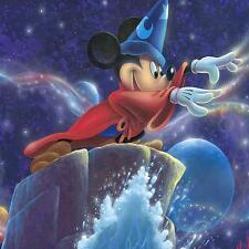 "DISNEY Fine Art - ""MICKEY'S MAGIC""  12 X 18 | GICLÉE ON CANVAS | EDITION OF"