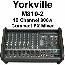 Yorkville M810-2 10 Channel 800w Compact FX Audio Mixer