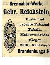 Gebr. Reichstein Brandenburg BRENNABOR-WERKE Historische Reklame von 1908