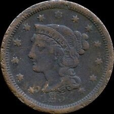 1854 United States Large 1 Cent Coin