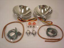 1937 1938 1939 Ford Halogen Headlight Conversion Reflector Kit w Turn Signal