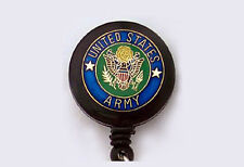US ARMY Retractable Reel ID Card Badge Holder/Key Chain/United States Military