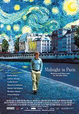 Midnight In Paris movie poster : Woody Allen, Owen Wilson : 11 x 17 inches