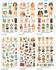 Vintage Craft Paper Baby Doll Mate Deco Stickers - Be creative! NEW