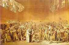 Jacques Louis David The Tennis Court Oath A4 Print