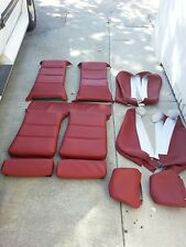 BMW E30 325i 318i 325is 318is 325e SPORT SEAT UPHOLSTERY KIT CARDINAL RED  NEW