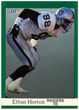 Ethan HORTON #109 Raiders FLEER 1991 CARD FOOTBALL AMERICANO (C559)