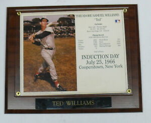 RED SOX PLAQUE> TED WILLIAMS INDUCTION DAY JULY 25, 1966 ~ COOPERSTOWN, NY