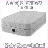 Fully Stocked INFLATABLE BEDS Website Business|FREE Domain|FREE Hosting|Traffic