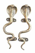 Antiqued Brass Snake Door Handles/Cabinet Pulls, A Pair