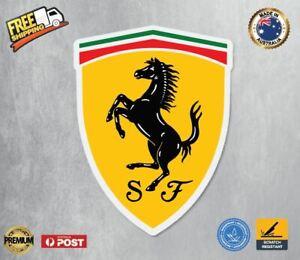 Ferrari Badge Vinyl Sticker Car laptop Bumper Sticker Decal Quality Australian