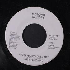 JOSE FELICIANO: Everybody Loves Me / Same 45 (dj) Vocalists