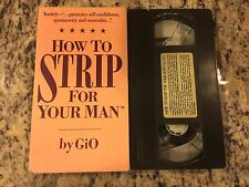 HOW TO STRIP FOR YOUR MAN RARE VHS! NOT ON DVD 1988 MISS GiO CLASSIC BURLESQUE!