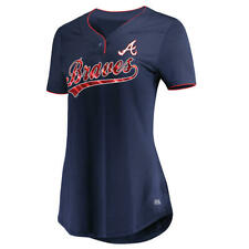 Atlanta Braves Women's V-Neck Jersey Tee - Free Shipping! - NWT!