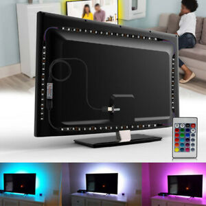 5V RGB LED Stripe Lichterkette Batteriebetrieb USB + Fernbedienung Streifen Band