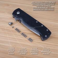 Emerson CQC-7BW CQC-7 CQC Knife Custom Designed 13pc RAW Titanium Screw Set