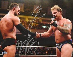 Chris Jericho Finn Balor Signed 11x14 Photo BAS COA WWE New Japan Pro Wrestling