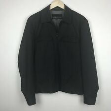 Kenneth Cole New York Men's Jacket Zip Front Black Pinstriped Sz Small S
