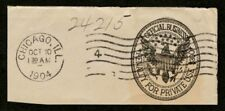 US $300 Penalty Official Business Stationery Envelope Cut Square Chicago cd 1904