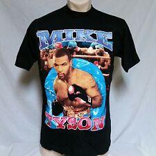 VTG 90s Mike Tyson Rap Tee T Shirt Boxing OJ Hip Hop Double Sided Bay Club XL