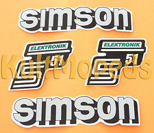 4 Lámina Adhesiva Etiqueta Engomada del depósito cubierta lateral Pass F SIMSON