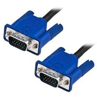 1.5M VGA SVGA 15 Pin Male to Male Cable Lead Blue PC TFT LCD Monitor TV Laptop