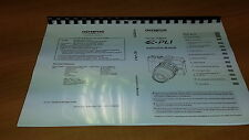Olympus E-pl1 Cámara Digital Manual de instrucciones impreso Guía de usuario 127 Páginas