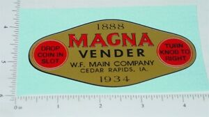 Magna Vender Gold Graphic Replacement Vending Machine Sticker V-80