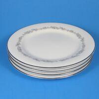 Noritake CRESTMONT Bread Plates Set of 4 Japan 6013 Gray Flowers Scrolls Plate