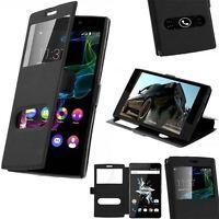 Etui Housse Coque Pochette Flip Case Intérieur Silicone pour Huawei P9 Lite