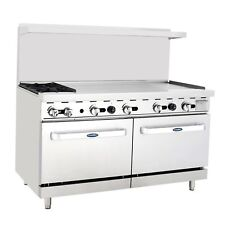 "New Heavy 60"" Range 2 Burners 48"" Griddle 2 Full Ovens Stove Lp Prop Gas Only"