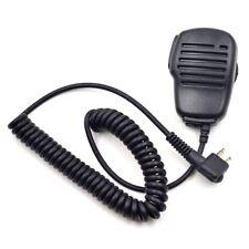 2 Pin PTT Remote Speaker Mic for Motorola Two Way Radio Walkie Talkie New