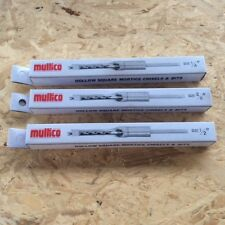 """MULTICO WHITE BOX 1/4""""+3/8""""+1/2"""" MORTICER CHISELS & BITS  3/4"""" SHANK"""
