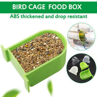 Bird Cage Food Box Trough Bird green Feeder Bowl Accessories Parrot