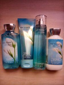 Bath & Body Works Sea Island Shore Gel, Mist, Lotion, Cream Gift Set *New*