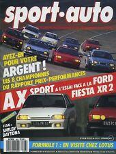 SPORT AUTO n°303 AVRIL 1987 avec encart & poster